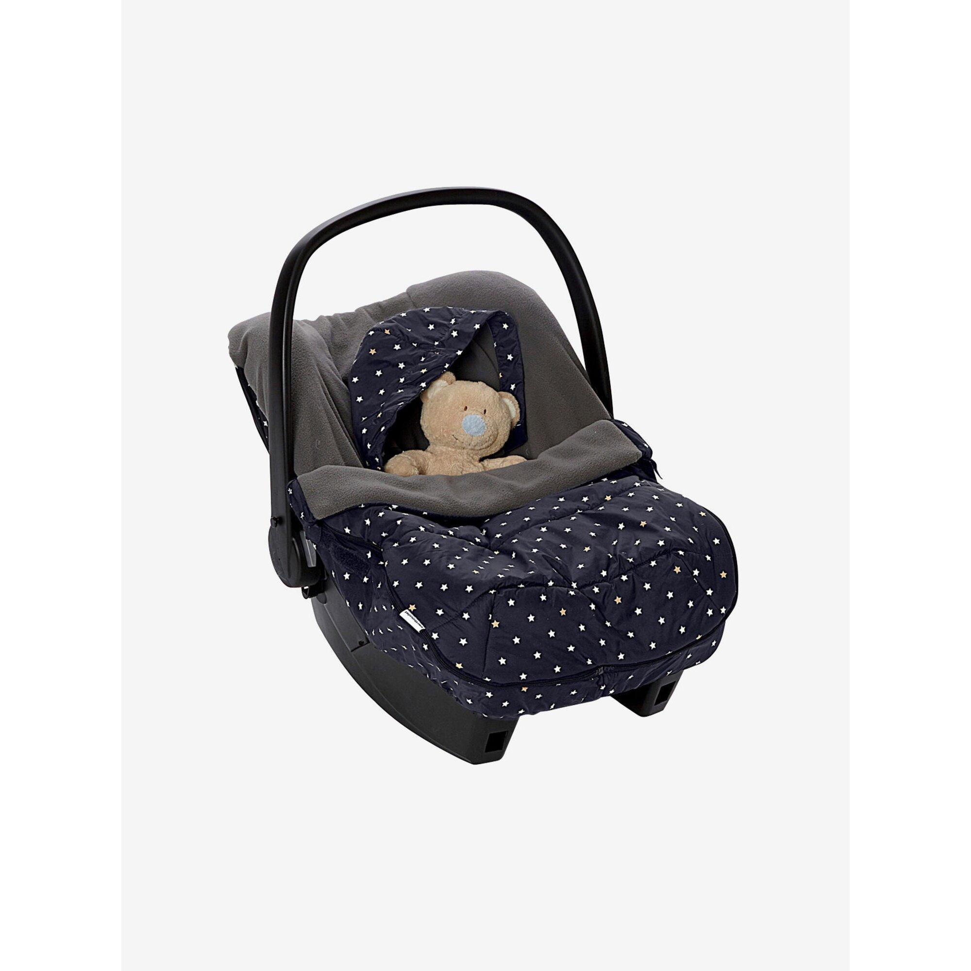 Vertbaudet Warmer Fußsack für Babyschalen mit Sternen