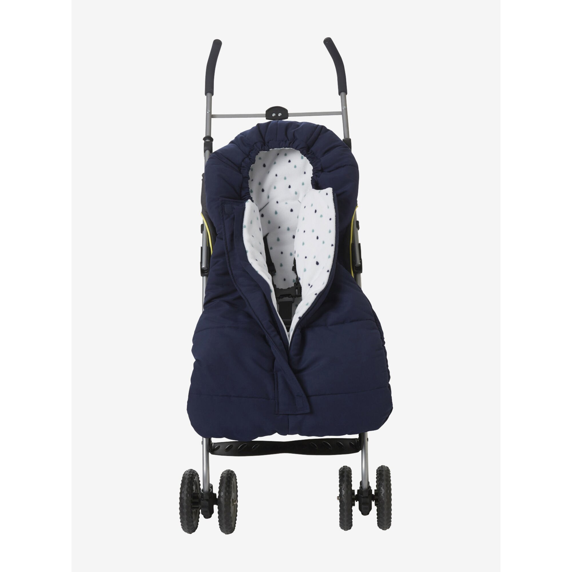 Vertbaudet Baby Fußsack, wetterfest blau