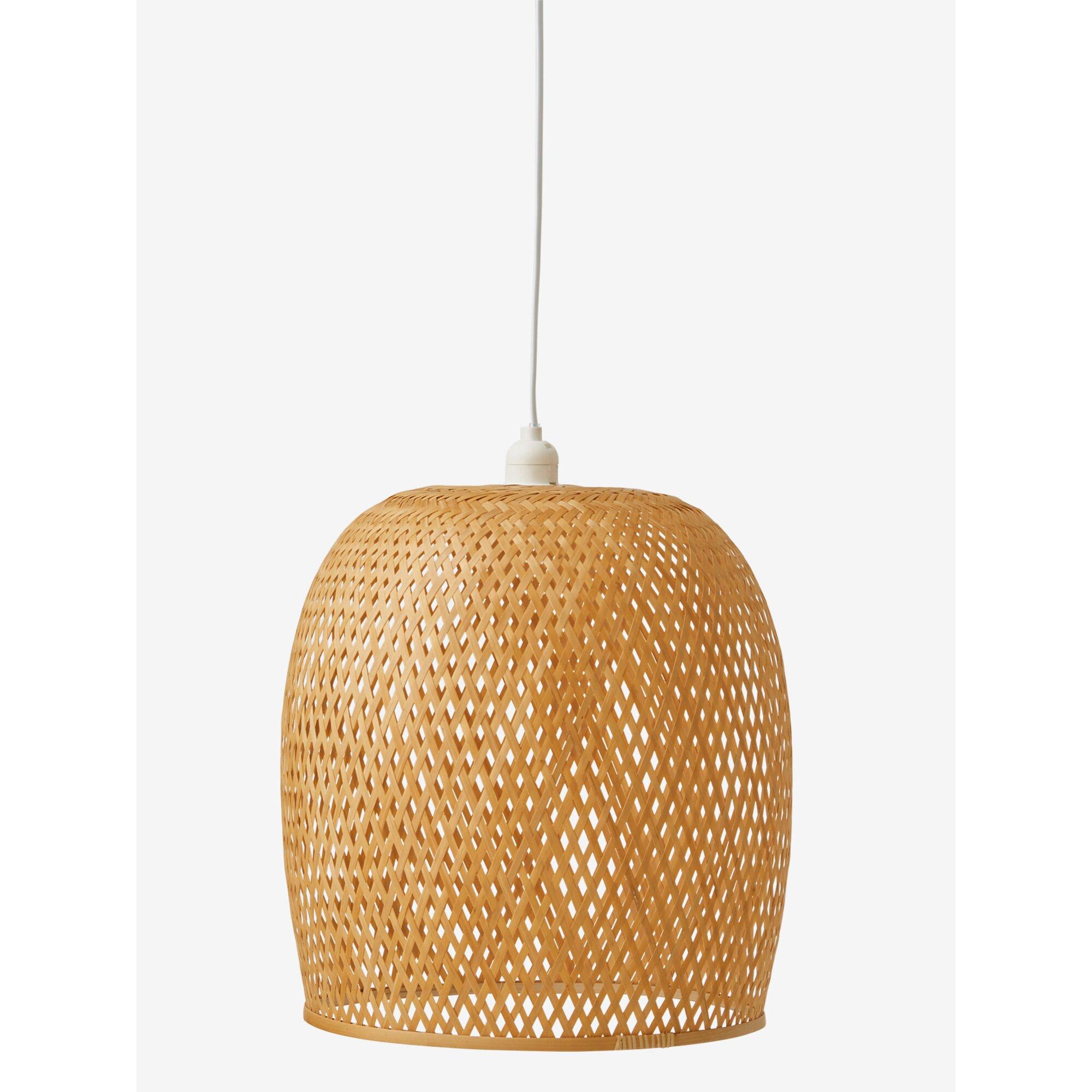 Vertbaudet Lampenschirm aus Bambusgeflecht, Glockenform