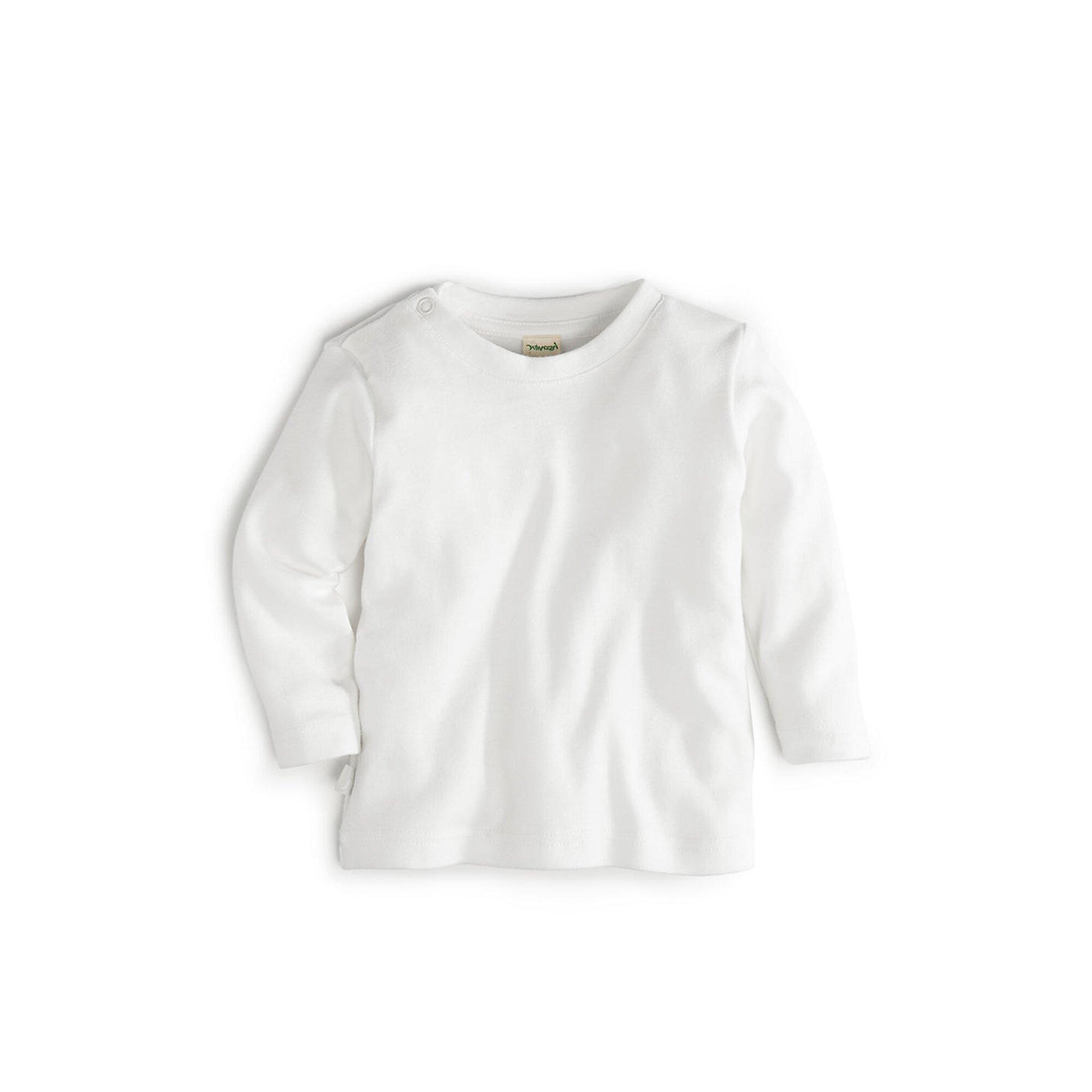 Hessnatur Basic Langarmshirt aus reiner Bio-Baumwolle weiss 50//62