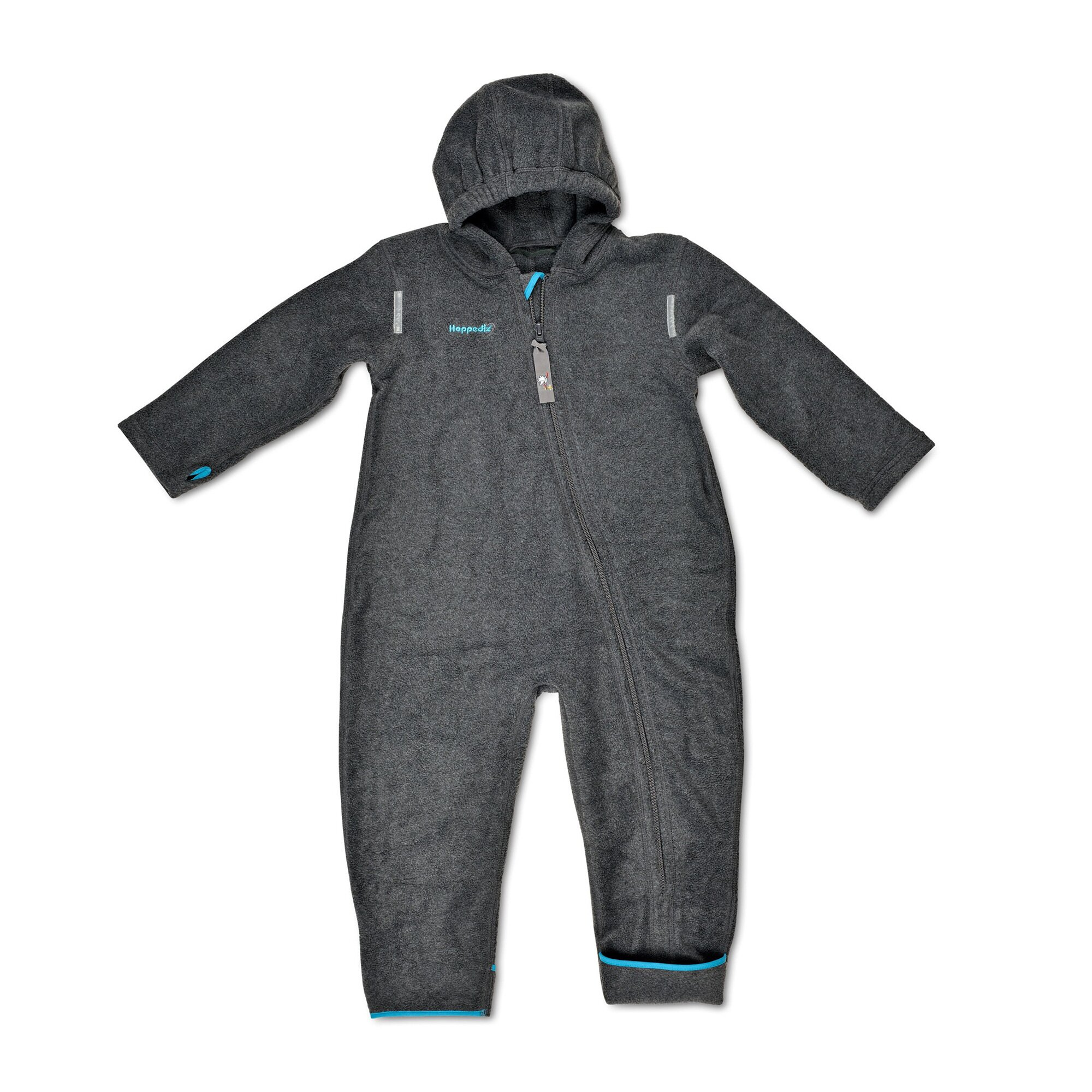 Hoppediz® Fleece-(Trage-) Overalls grau