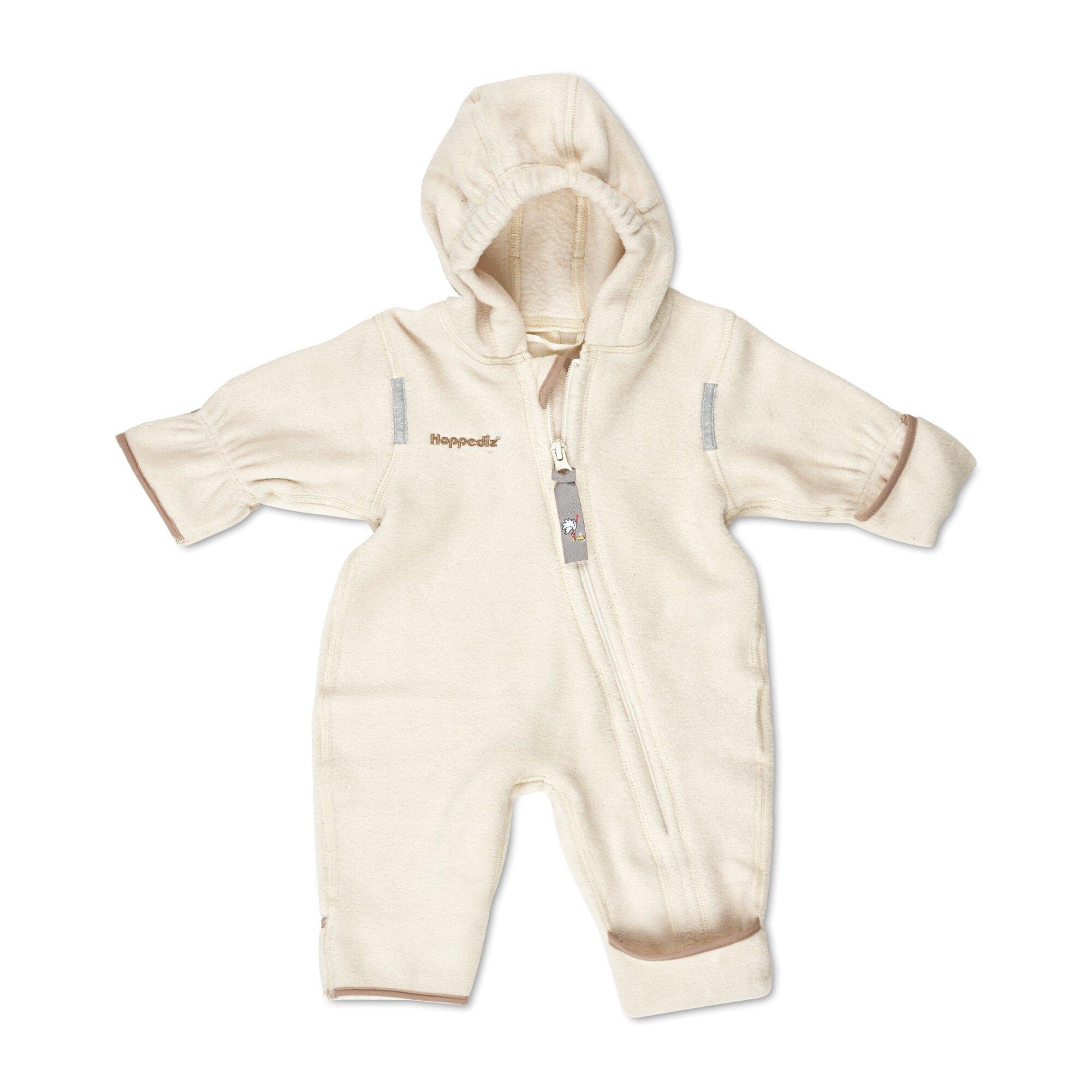 Hoppediz® Fleece-(Trage-) Overalls beige/natur