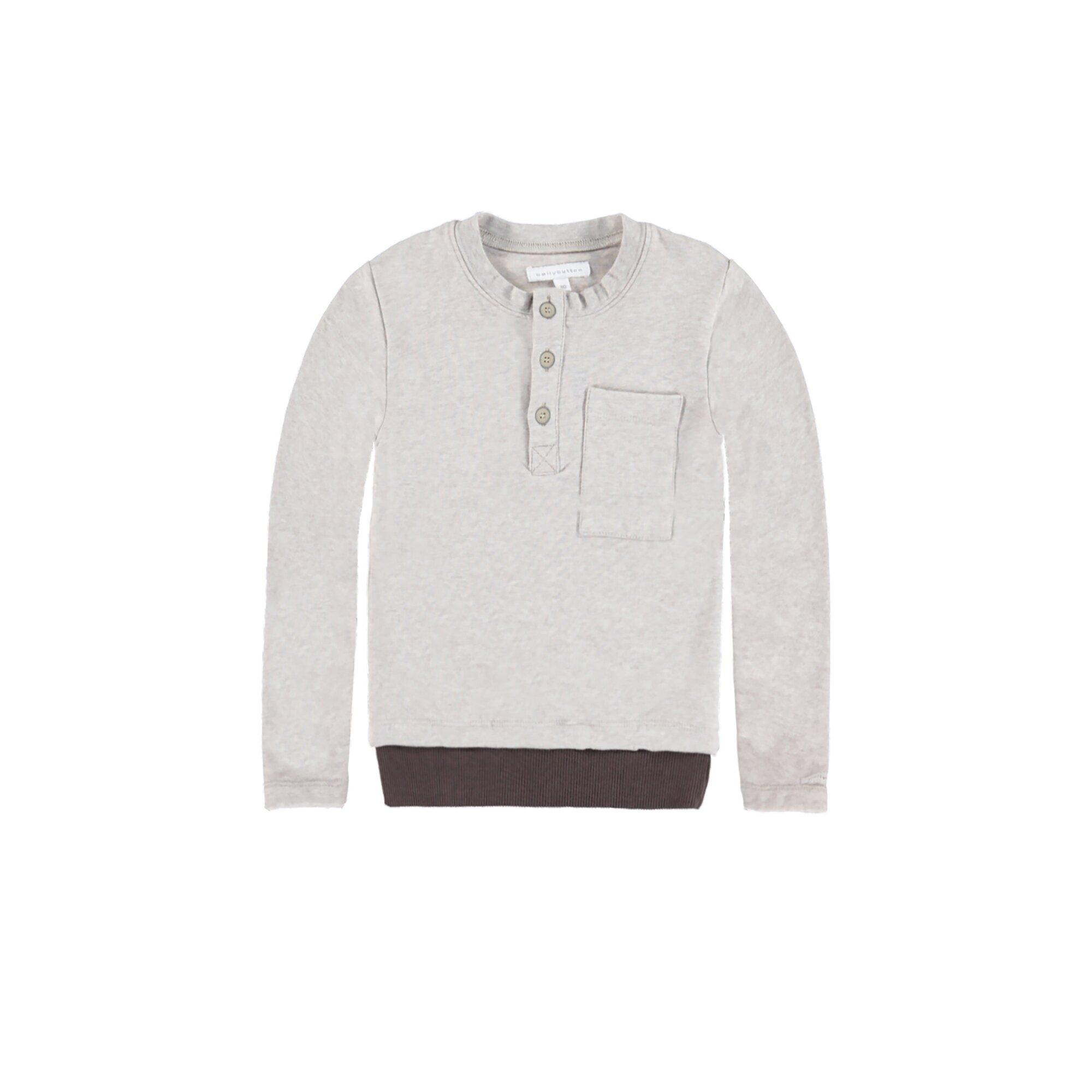 Bellybutton Sweatshirt Jungen, mit Tasche beige 68/74/80/110/116/122/128