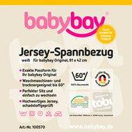 Jersey-Spannbetttuch Original 81x43 cm von BABYBAY®
