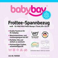 Frottee-Spannbetttuch Maxi 89x50 cm von BABYBAY®