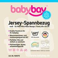Jersey-Spannbetttuch Maxi 89x50 cm von BABYBAY®