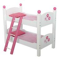 Les lits superposés pour poupées, blanc/rose vif de BAYER CHIC