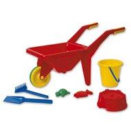 Schubkarre mit Sandspielzeug