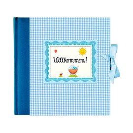 Fotoalbum Willkommen blau