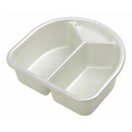 Le bac de toilette blanc pearl
