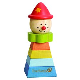 """Le clown en bois à assembler """"chapeau rouge"""""""