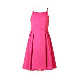 Robe fines bretelles rose vif