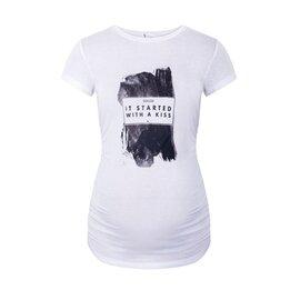 Umstands-T-Shirt Bad Girl weiß