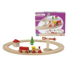 """L'ensemble train """"cercle"""" en bois, 15 pièces"""
