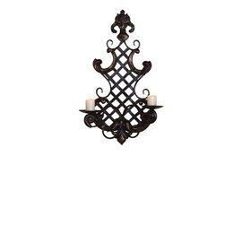 Wandkerzenhalter 2 flammig aus metall schwarz 35x12x56 cm online kaufen - Wandkerzenhalter schwarz ...