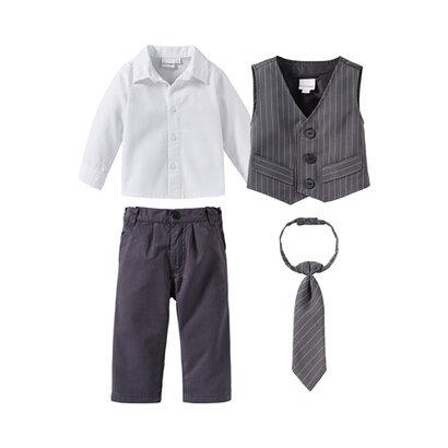 Ensemble 4pièces avec gilet, chemise, pantalon et cravate de BORNINO FESTLICHE MODE