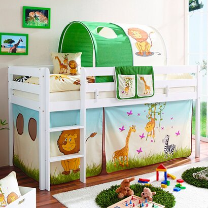 ticaa hochbett set dschungel online kaufen baby walz. Black Bedroom Furniture Sets. Home Design Ideas