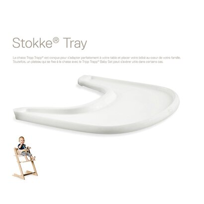 stokke tripp trapp la tablette tray commander en ligne babywalz. Black Bedroom Furniture Sets. Home Design Ideas
