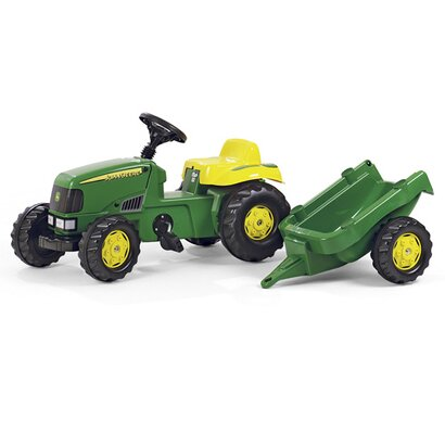 rolly toys trettraktor rollykid john deere mit anh nger online kaufen baby walz. Black Bedroom Furniture Sets. Home Design Ideas