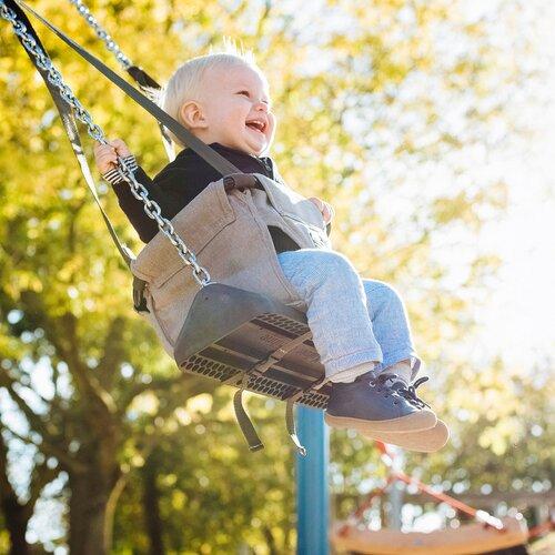 Schaukelaufsatz Toddler Toddler Toddler NEU blau grau 89e564