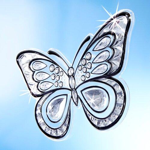 """TRI Kristall-Deko /""""Schmetterling/"""" 7 Stück Fensterdeko Fenstersticker 3D-Effekt"""