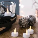 LED-Teelichter, 4 Stück