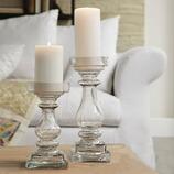 Kerzenständer Pau aus Glas, 2er Set