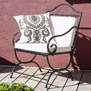Eisenstuhl Montoille mit Sitzkissen