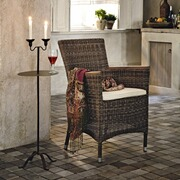 Flechtsessel Muzillac mit Sitzkissen