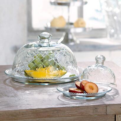 glascloches und platten cannes 2er set online kaufen. Black Bedroom Furniture Sets. Home Design Ideas