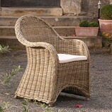 Rattan-Sessel Portbail mit Sitzkissen