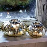 Windlichter Peypin aus Glas, 2er-Set