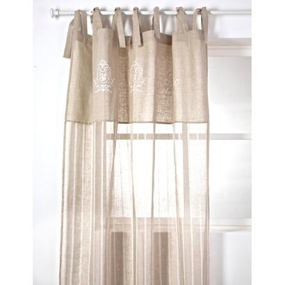 leinen gardine beaucaire mit stickerei online kaufen mirabeau. Black Bedroom Furniture Sets. Home Design Ideas