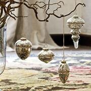 Weihnachtsanhänger Coron aus Glas, 4er-Set