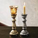 Kerzenständer Bais aus Glas, 2er-Set