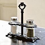 Salz- und Pfeffer-Ménage Nesque aus Gusseisen