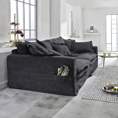 xxl sofa carcassonne anthrazit bezug aus baumwolle online. Black Bedroom Furniture Sets. Home Design Ideas