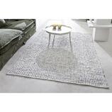 Teppich Avranches aus Baumwolle + Leder