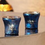 Teelichthalter Tokast aus Glas, 2er-Set