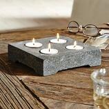 Kerzenstein Risle aus Naturstein