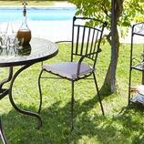 Stuhl Enza inkl. Sitzkissen aus Eisen