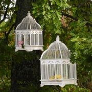 Vogelkäfig Savoureuse aus Bambus, 2er-Set