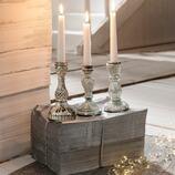 Kerzenleuchter Frémur aus Glas, 3er-Set
