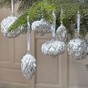 Weihnachtskugeln Aër aus Glas, 6er-Set