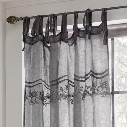 leinen gardine bieudre mit stickerei online kaufen mirabeau. Black Bedroom Furniture Sets. Home Design Ideas