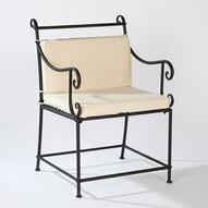 Stuhl Semouse aus Schmiedeeisen inkl Sitzkissen