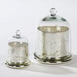 Glaszylinder Tude mit Cloche, 2er.Set