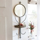 Spiegel Alene mit Kleiderhaken aus Eisen