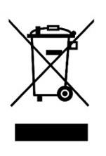 Zeichen: Durchgestrichene Mülltonne