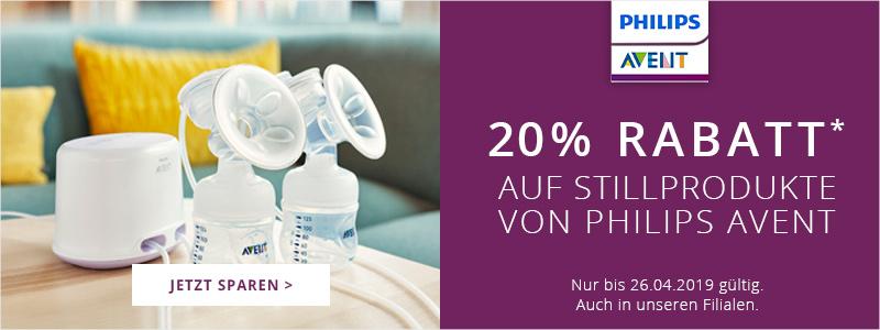 20% Rabatt auf Stillprodukte von Philips Avent